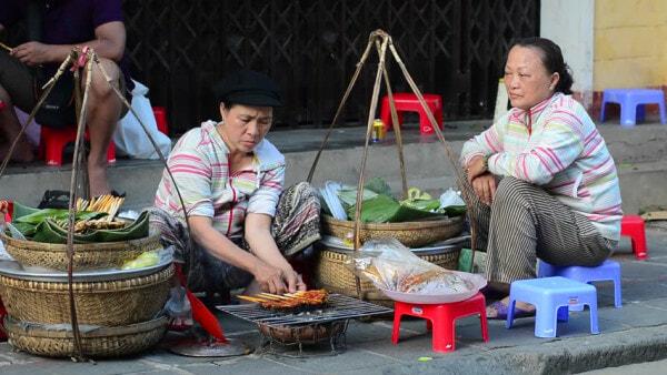 Street Vendor In Saigon