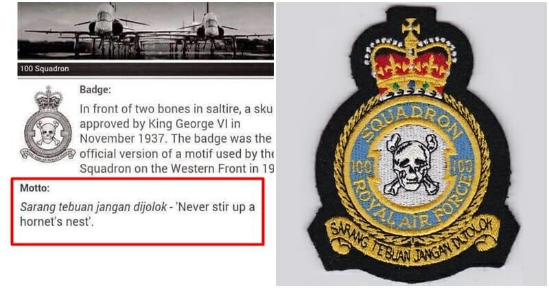 Kisah Peribahasa Melayu Pada Logo Tentera Udara Uk Lobak Merah