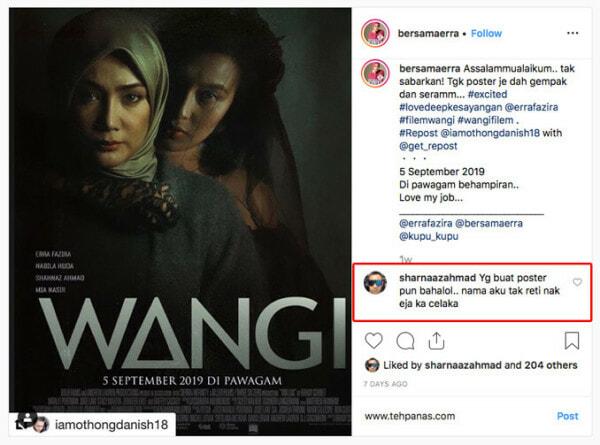 Sharnaaz Ahmad Kecam Kukubesi Poster Wangi Di Instagram Tehpanas