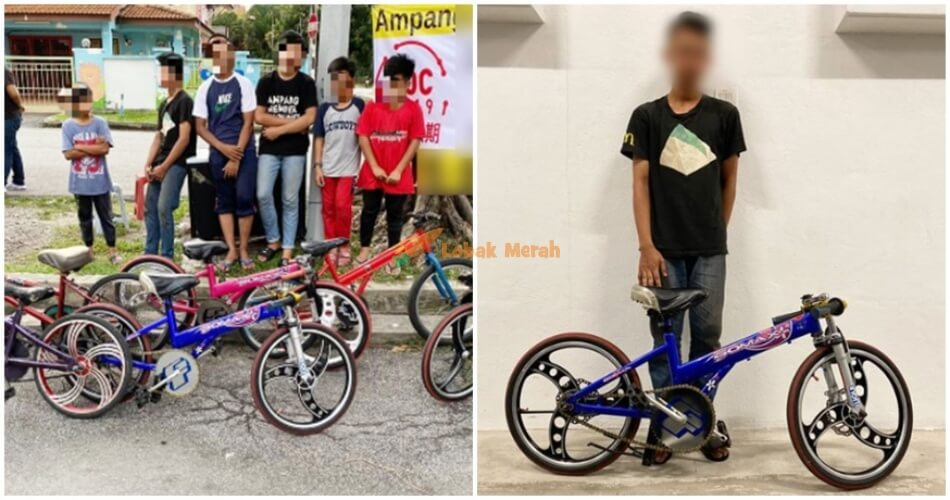 6 Ampang Parents Have Already Been Arrested For Allowing Their Kids To Ride Basikal Lajak World Of Buzz