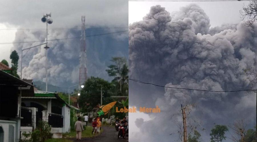 Gunung Berapi Tertinggi Di Pulau Jawa Meletus