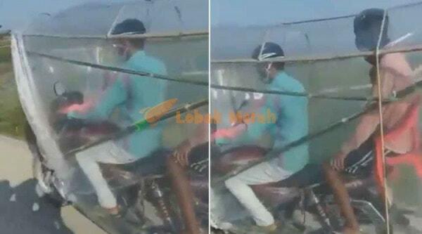 Lelaki Di India Modified Motor Untuk Lindung Daripada Covid 19 Siap Ada Jarak Antara Rider Pembonceng E1626488014878