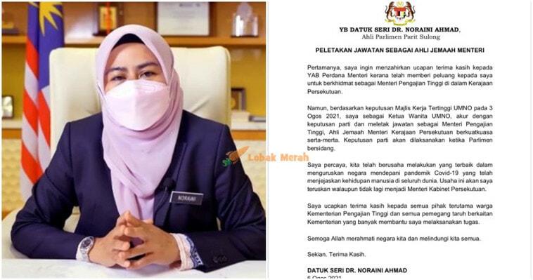 Dr Noraini Letak Jawatan