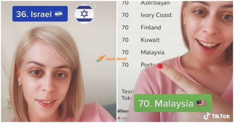 Israel Ejek Malaysia Di Tangga 70 Olimpik