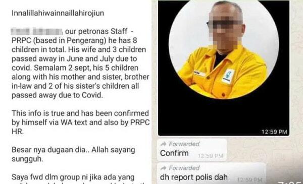 Padah Reka Cerita 14 Ahli Keluarga Jadi Korban Covid 19 Pekerja Kontraktor Petronas Ditahan Polis 1.jpg