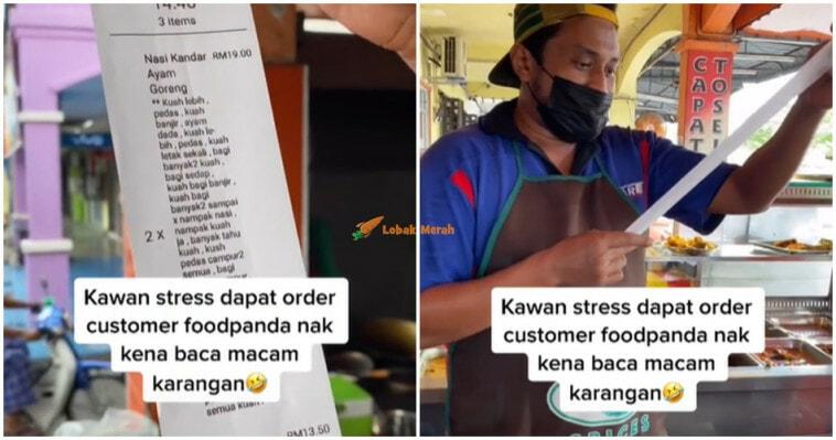 Peniaga Stress Dapat Order Panjang Dari Customer